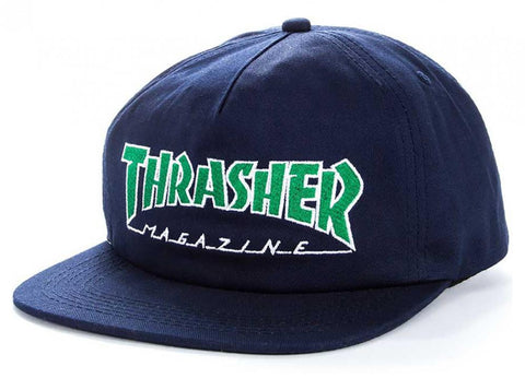 Outline Snapback Cap (Navy)