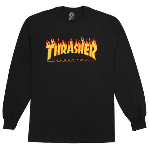 Thrasher Flame Longsleeve (Black)