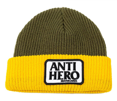 Reserve Patch Cufff Beanie (Yellow/Olive)