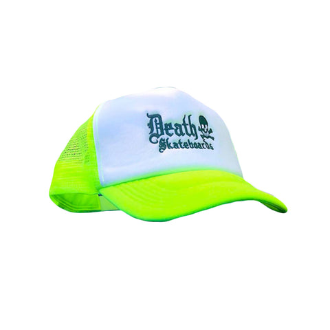 Death Trucker Cap (Neon Yellow/White)