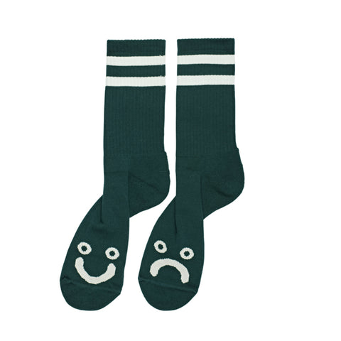 Happy / Sad Socks (Dark Green)