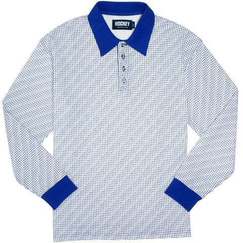 All Over Polo (White/Blue)