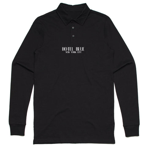 Polo Longsleeve (Black)