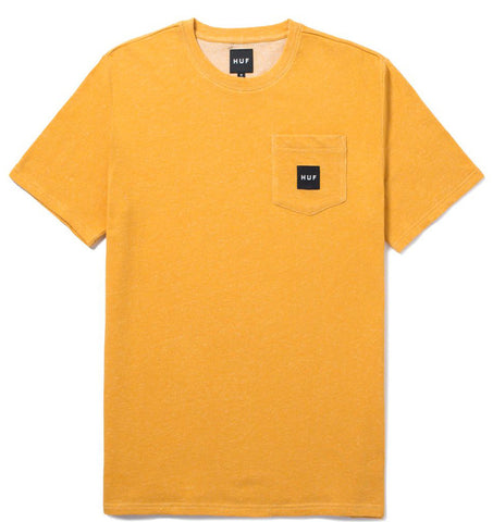 Heather Box Logo Pocket tee (Yellow)