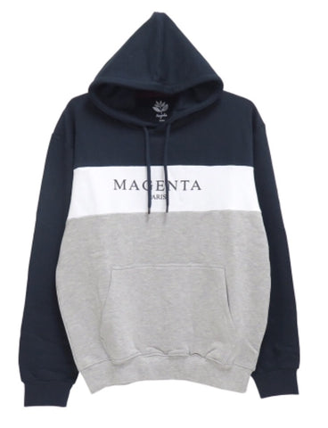 Magenta Paris Hoodie - Navy / White / Heather