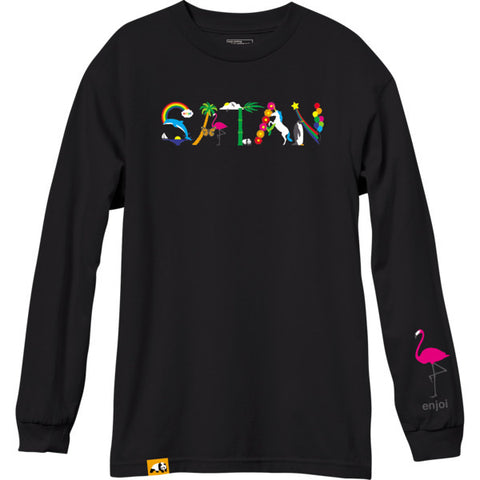 Satan Long Sleeve Tee (Black)