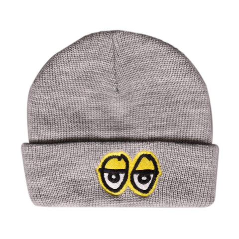 Eyes EMB Beanie (Heather/Yellow