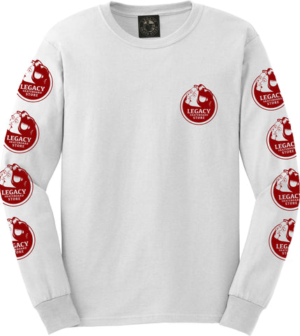 Love You Long Sleeve Tee (White/Red)