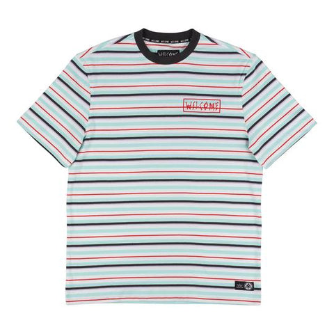 Surf Stripe Tee (White/Red)