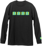 Napkin Logo Long Sleeve Tee (Black)