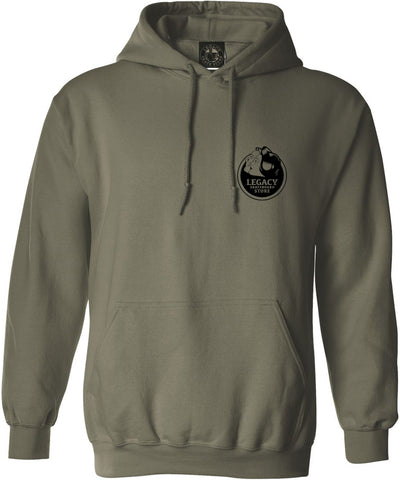 Love You Hoodie (Military Green/Black)