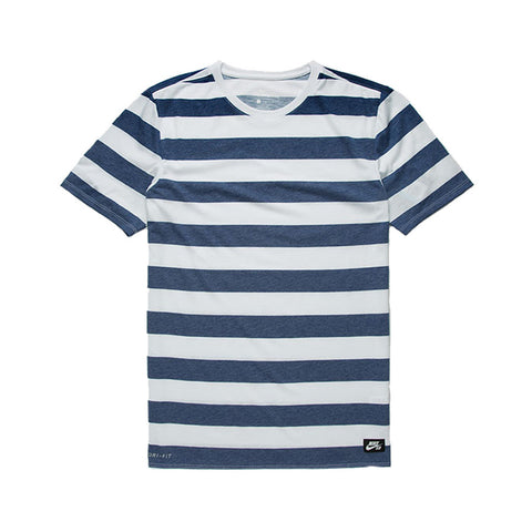 Stripe Dri-Fit T-shirt (Royal Blue/White)