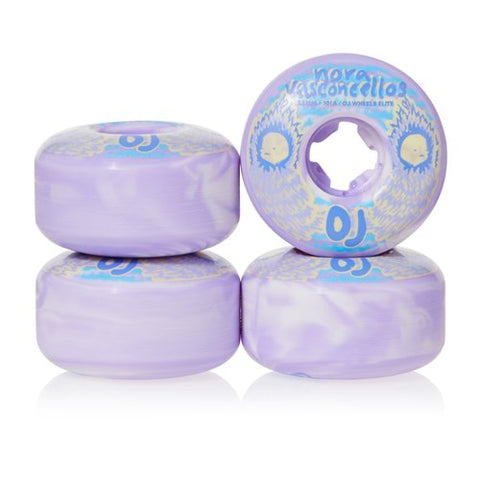 Elite Nora Waves Wheels (White/Violet Swirl)