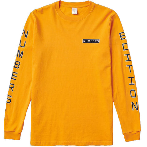 Vertical Stack Long Sleeve Tee (Gold)