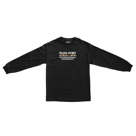 Inter Solid Longsleeve Tee (Black)