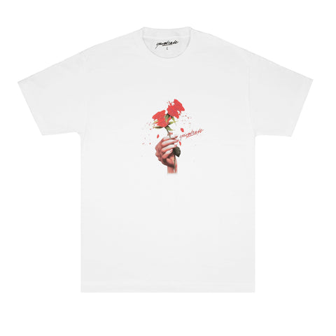 Red Rose Tee (White)