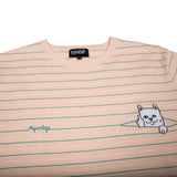 Peeking Nermal Jacquard Knit Tee (Natural/Teal)
