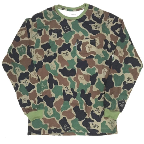 Lord Nermal Pocket Longsleeve Tee (Camo)
