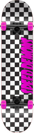 Checker Board Complete Skateboard (Pink/Black)