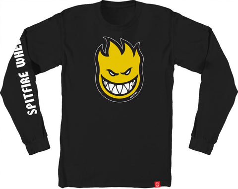 Bighead Fill Hombre LS Tee (Black/Yellow/White)