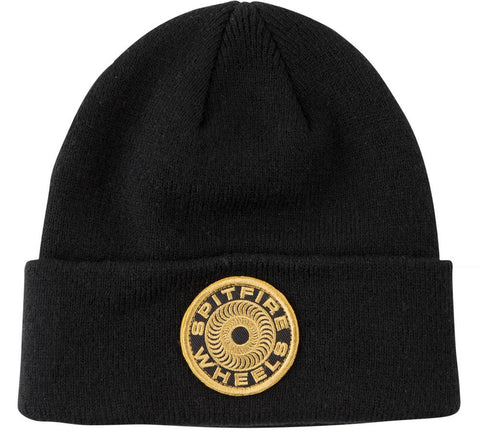 87 Swirl Patch Beanie (Black/Gold)