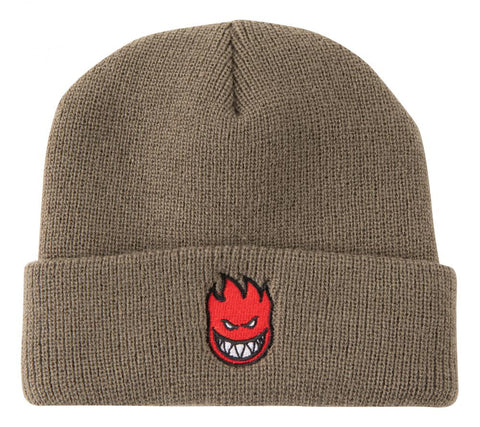 Big Head Fill Beanie (Khaki/Red)