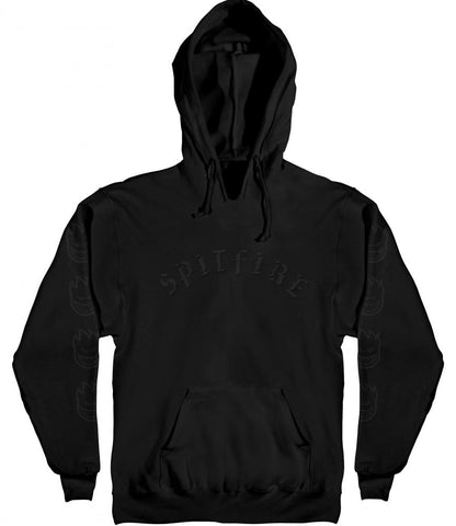 Old English Hoodie (Black/Black)