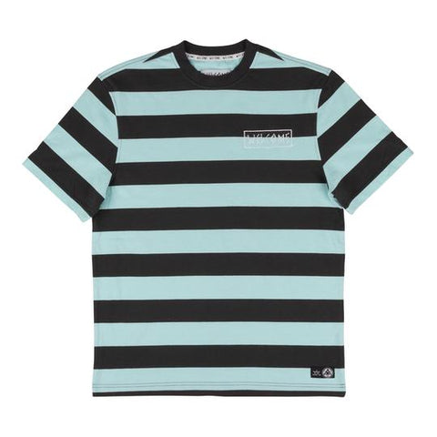 Big Beautiful Stripe Tee (Black/Teal)