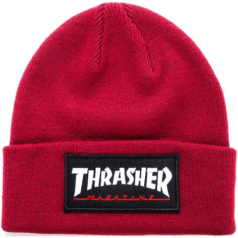 Patch Beanie (Burgundy)