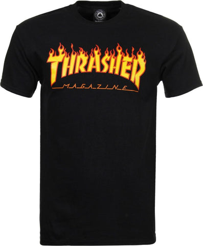 Thrasher Flame Tee (Black)