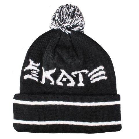 Skate and Destory Bobble Hat - Black/White