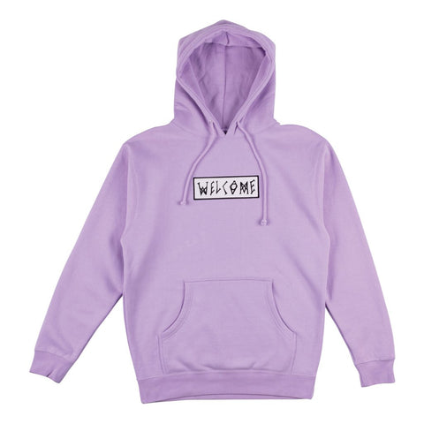 Scrawl Embroided Hood (Lavender)