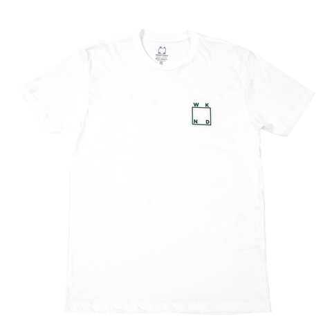 Square Logo Tee (White)