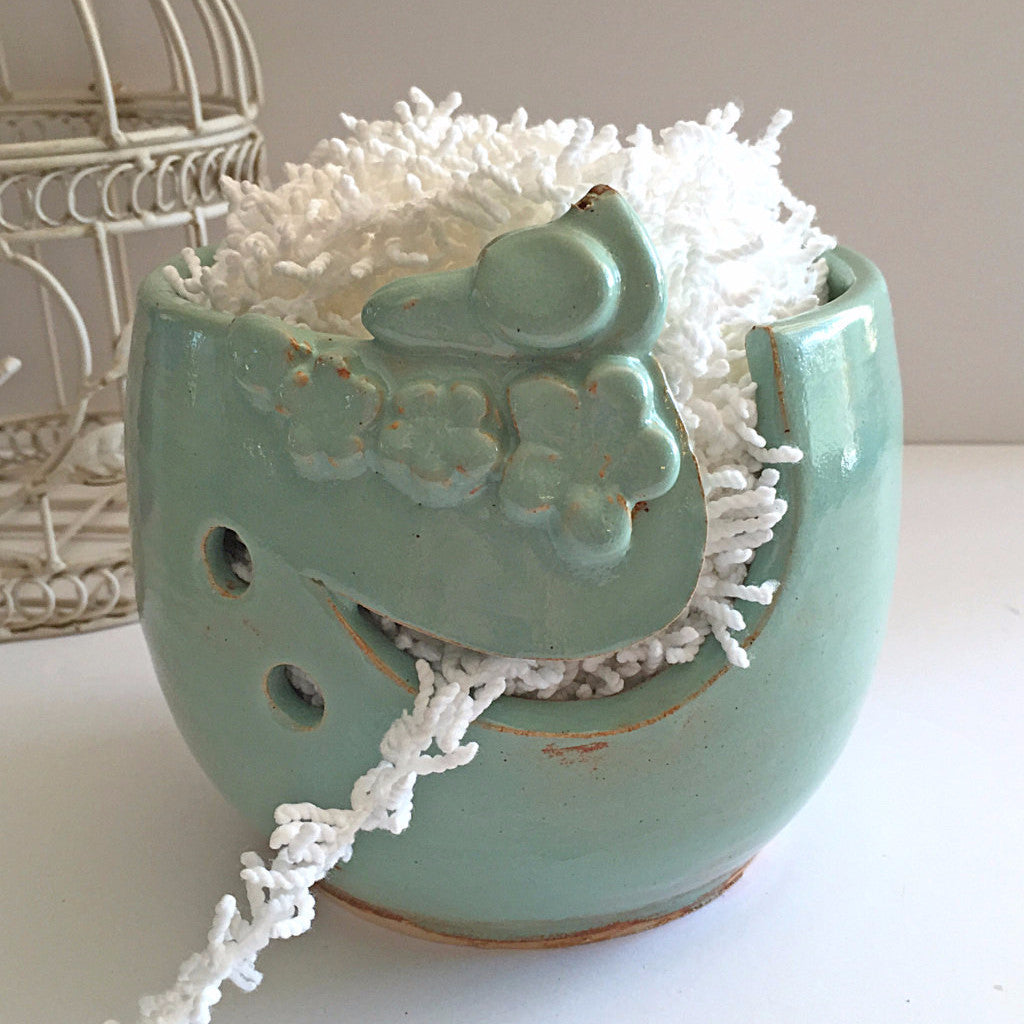 Yarn Bowl Knitting Bowl | Mother's Day Gift | Ceramic Yarn Bowl Bird Bowl Handmade Pottery IN PRODUCTION