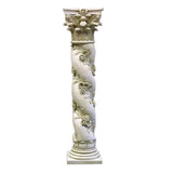 "XoticBrands Twisted Rose Pedestal - Architectural   Large Pedestals 29""H+"
