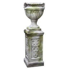 XoticBrands Fluted And Beaded Urn 18 - Architectural   Urns