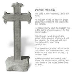 23rd Psalm Cross Obelisk-w/Base Memorial Garden Cross - xoticbrands