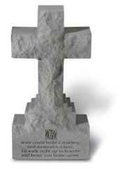 15in Cross on Base w/ If Tears Could Memorial Garden Cross - xoticbrands