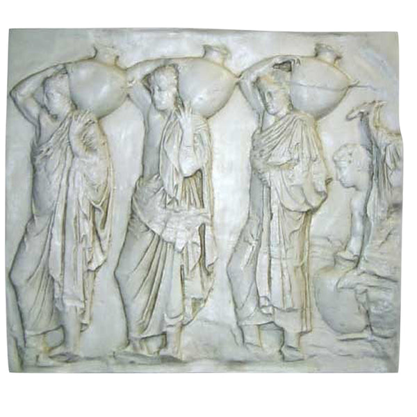 Urn Carrier Frieze  Wall Decor