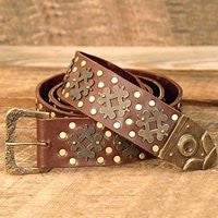 Medieval Long Leather Belt