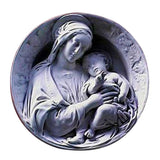 XoticBrands Madonna and Child Round Plaque - Religious   Wall Plaques & Brackets