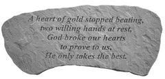 A heart of gold... Memorial Garden Stone - xoticbrands