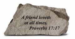 A friend loveth at all times. Memorial Garden Stone - xoticbrands