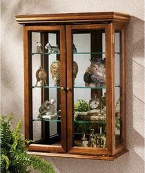 "26"" Collectors Cabinet Country Tuscan Style Hardwoord Wall Curio"