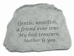 Gentle, Unselfish... Inspirational Garden Stone
