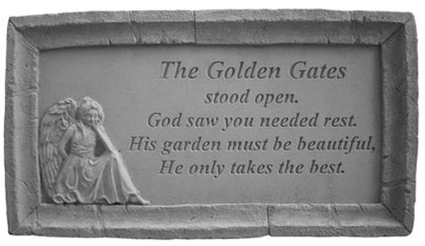 The Golden Gates... Memorial Garden Stone