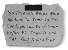 No Farewell Words...Personalized Memorial Pet Stone