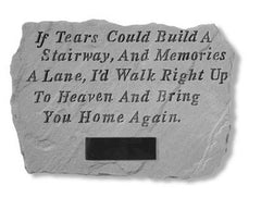 If Tears Could Build...Personalized Memorial Pet Stone