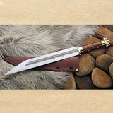 Vikings Sax Seax Dager Sword With Brass Handle