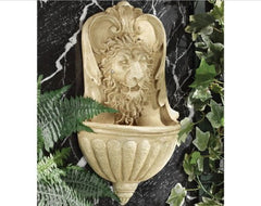 "20"" Antique Replica Italian Art architectural Lion Wall Font Sculpture Statue"